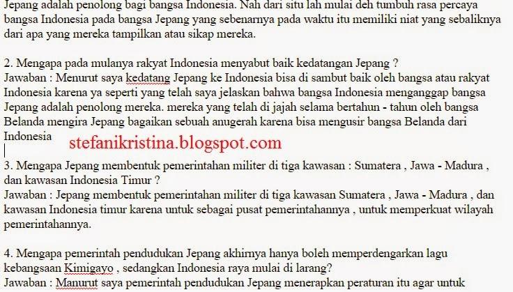 Pembahasan Sejarah Indonesia Halaman 14 Nifafani