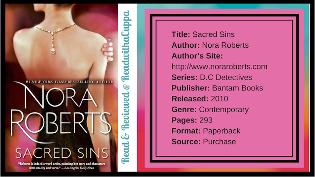 Book Review | Sacred Sins | Nora Roberts www.readwithacuppa.com