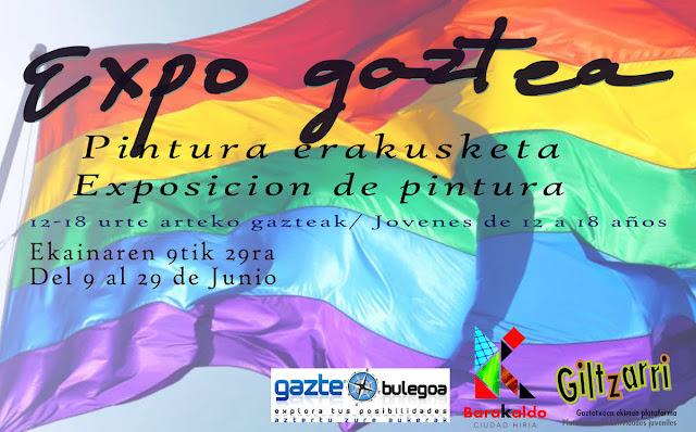 Cartel de la exposición en el Centro de Información Juvenil