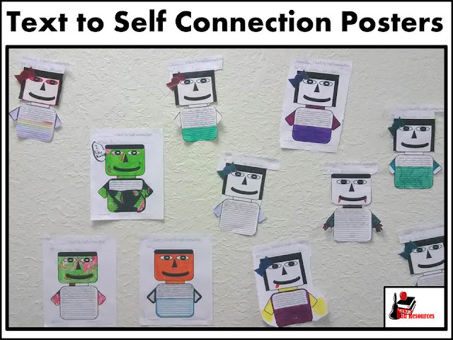 Text to self connection posters to increase reading comprehension and engagement - created by Raki's Rad Resources.