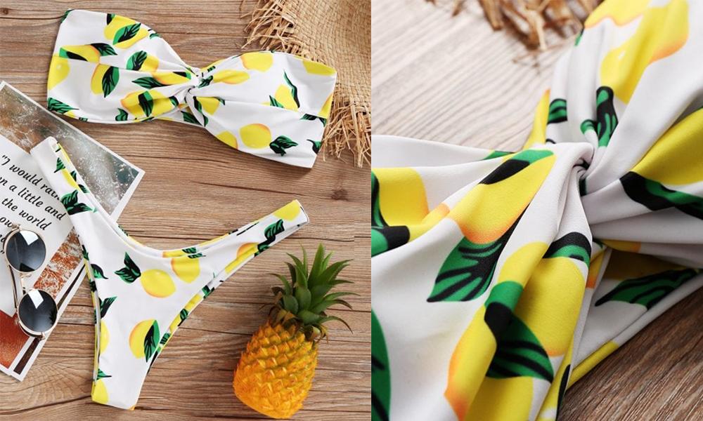 Lemon bikini Zaful