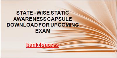 State Wise Static Awareness Capsule PDF Free Download