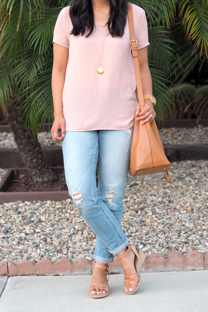 blush top outfit