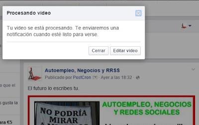 Estamos Creando vídeos de presentación con llamada a la acción en facebook