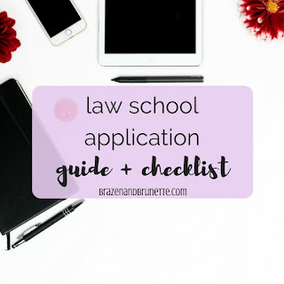 Don't submit your law school application without checking this list! 8 steps to take before submitting your law school application. law school application tips. law school application help. law school application process. what to add to your law school application. what goes in a law school application. law school application guide. law school application checklist. law school application process. JD application checklist. applying to law school. what you need to know about applying to law school. law school applications 2018. law school class of 2021. law school blog. law student blogger. | brazenandbrunette.com