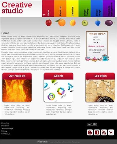 Free FW Gallery Creative Studio Joomla Template