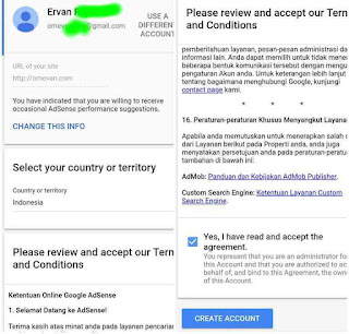 Detail Payment registration form