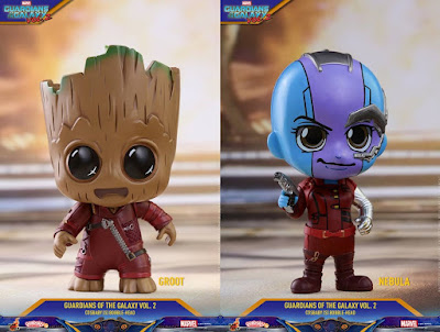 Marvel's Guardians of the Galaxy Vol. 2 Cosbaby Series 2 Mini Figures by Hot Toys - Ravager Outfit Baby Groot & Nebula