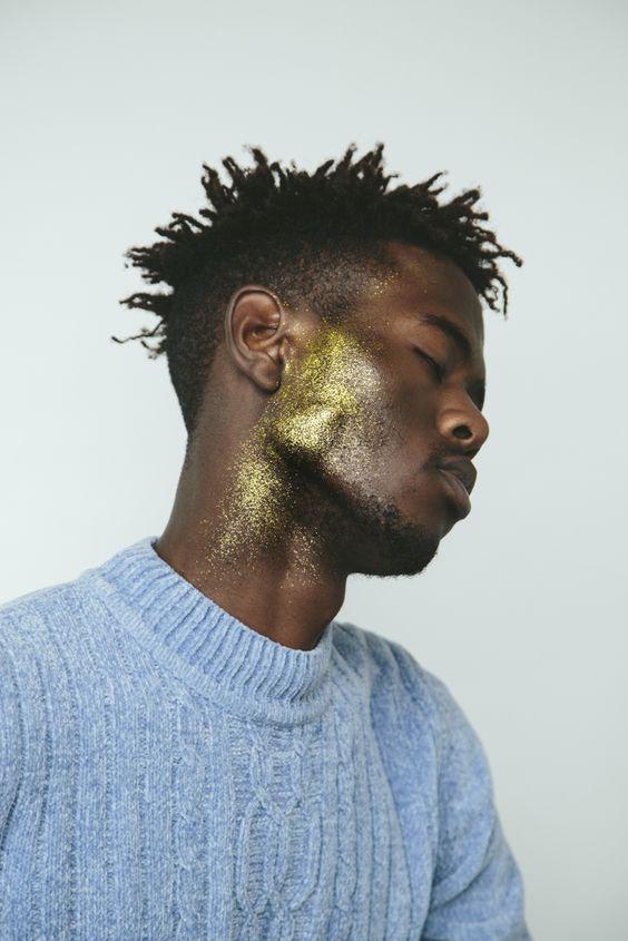 glitter carnaval masculino rosto