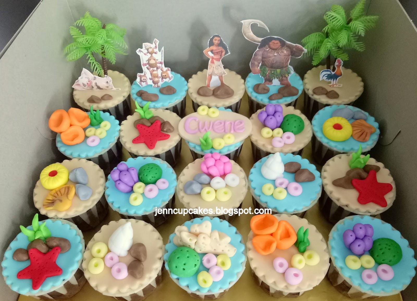 Jenn Cupcakes Amp Muffins Moana Cupcakes