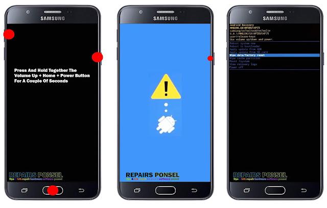 Hard reset Samsung Galaxy J7 Prime