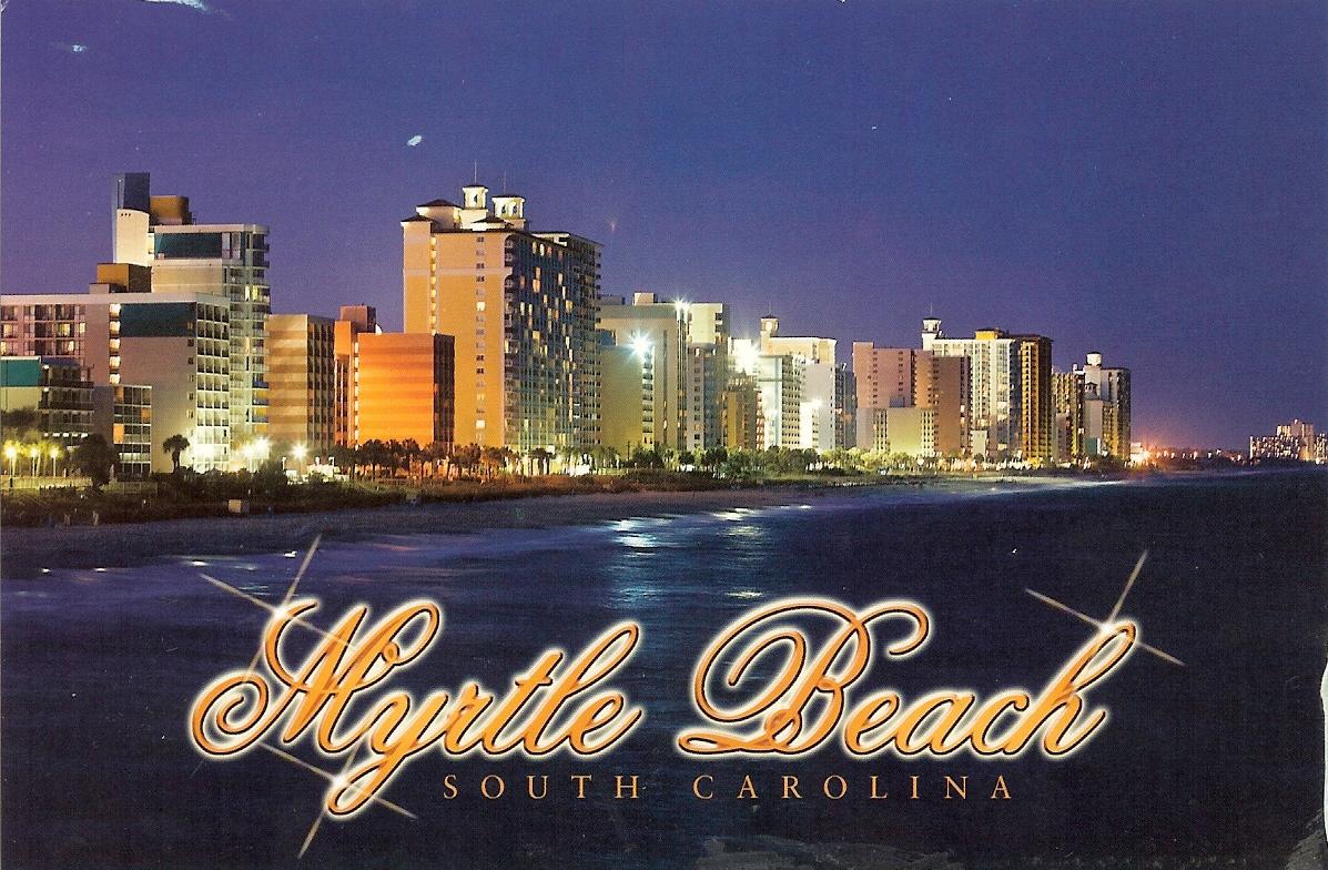 Myrtle Beach Night View South Carolina