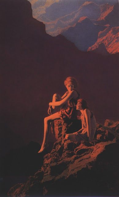 Painting;Maxfield Parrish Contentment