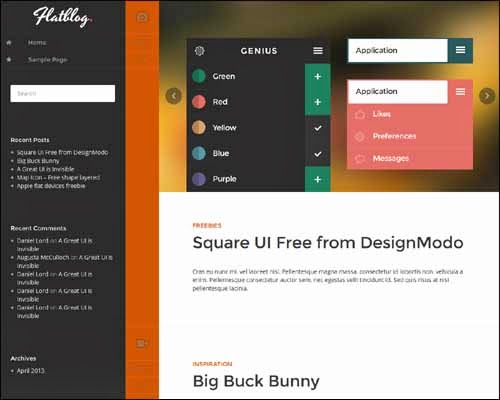 FlatBlog Free WordPress Theme