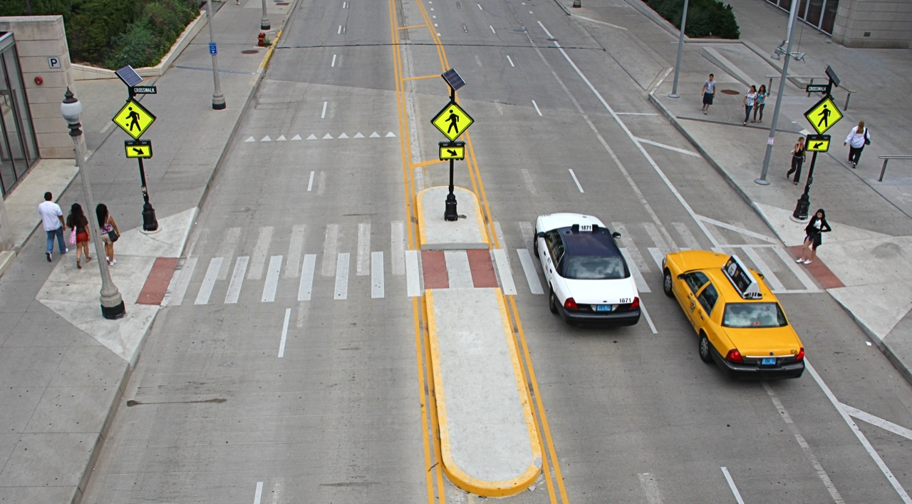 Bike Walk Lincoln Park: STOP for pedestrians in crosswalks