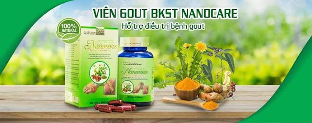 Viên uống Gout Nanocare điều trị bệnh gout