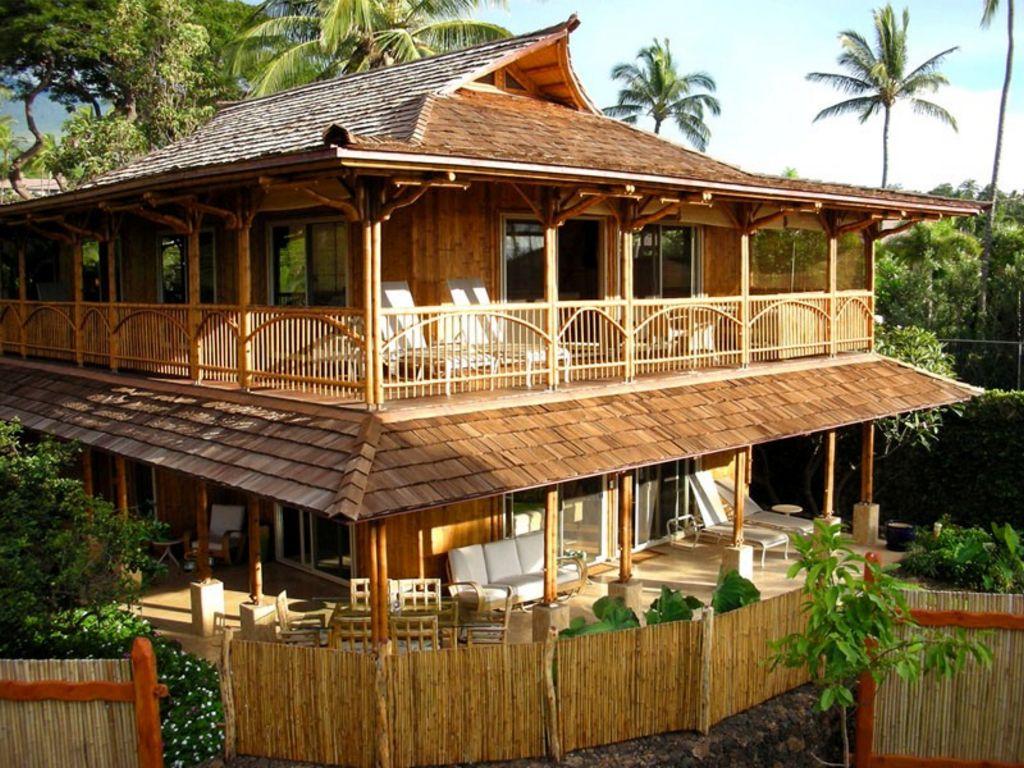 Rancangan Rumah Bambu Minimalis Populer