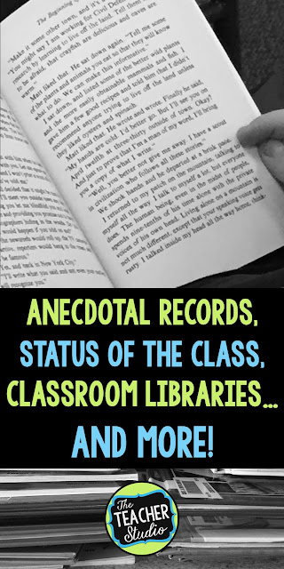 classroom libraries, anecdotal records, status of the class, independent reading, reader's workshop, reading stamina