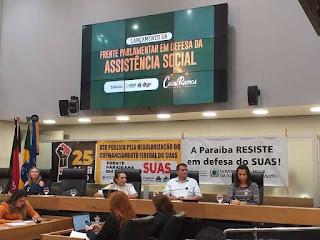 Prefeito de Picuí e equipe participam do lançamento da frente parlamentar em defesa da assistência social