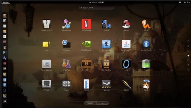 Tampilan Sistem Operasi Linux