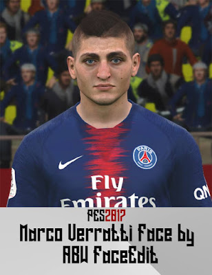 PES 2017 Faces Marco Verratti by ABW_FaceEdit