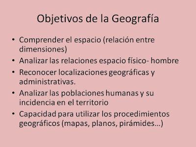 Objetivos de la geografía