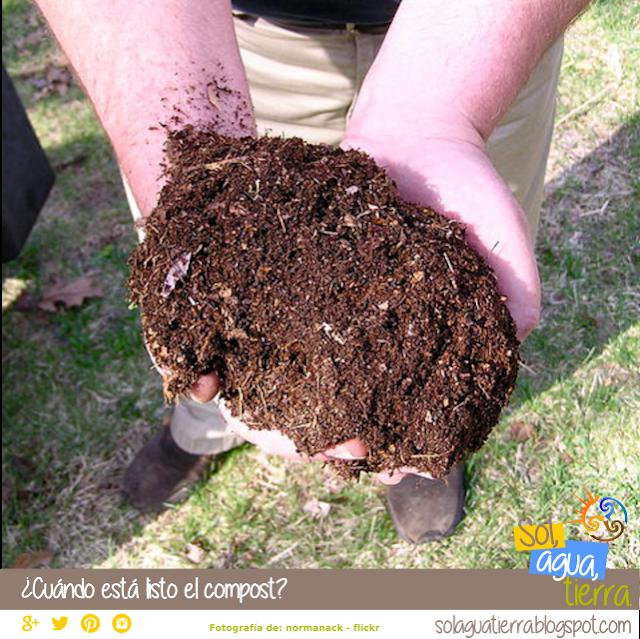 Como saber cuando podemos usar el compost