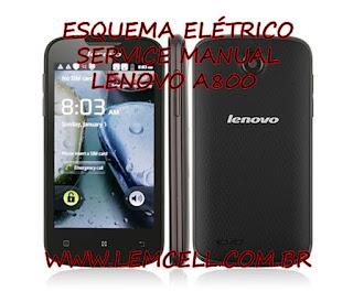 Esquema Elétrico Smartphone Celular Lenovo A800 Manual de Serviço Service Manual schematic Diagram Cell Phone Smartphone Lenovo A800