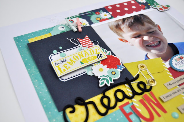 Funny Scrapbooking Layout by Jen Gallacher from www.jengallacher.com Includes scrapbooking proces video. #jengallacher #scrapbooker #scrapbooking