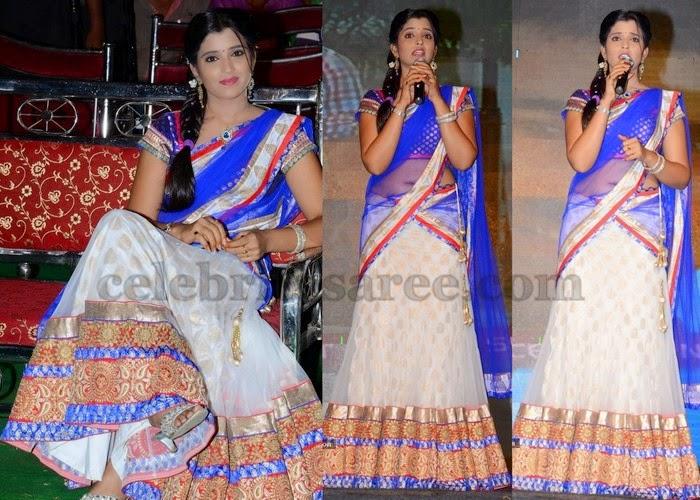 Anchor Shyamala Latest Half Saree