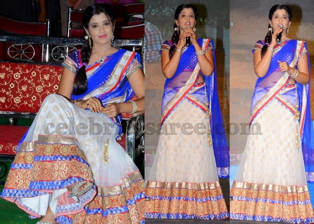 Anchor Shyamala Latest Half Saree