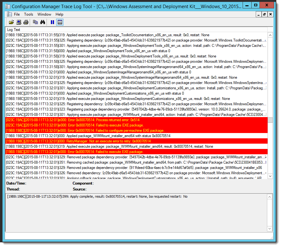 Error Log: LazyWinAdmin: Windows 10 ADK