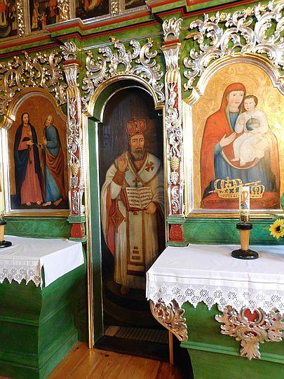 Diakońskie wrota z wizerunkiem św. Jana Złotoustego.