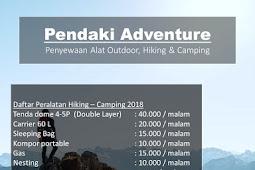 Rental Peralatan Pendakian Pamotan Rembang