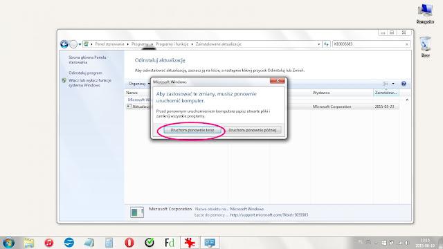 Jak usunąć aktualizację do Windows 10?