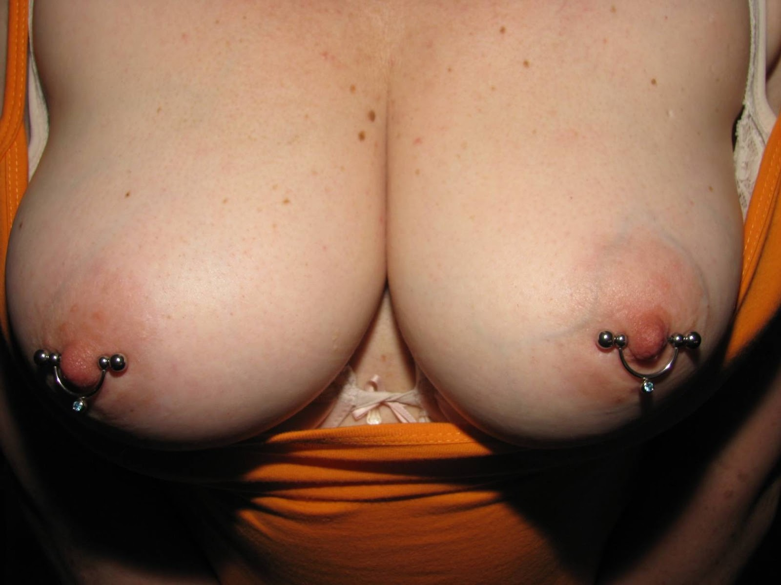 Nipple and clit piercing