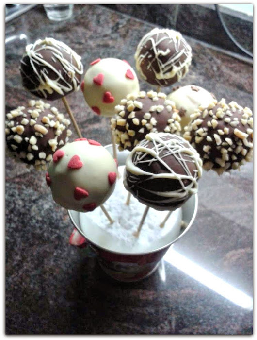 Cake pops de vainilla y chocolate!