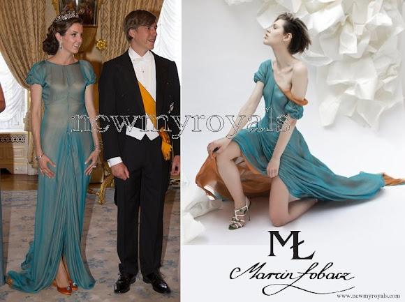 Princess Tess wore Marcin Lobacz Design gown