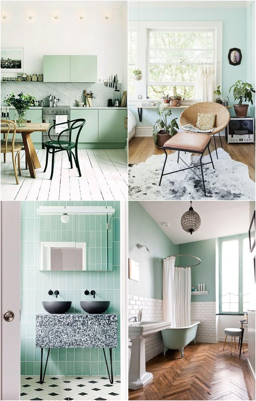 Verde menta ou neo mint um sopro de frescor na moda e na decoração