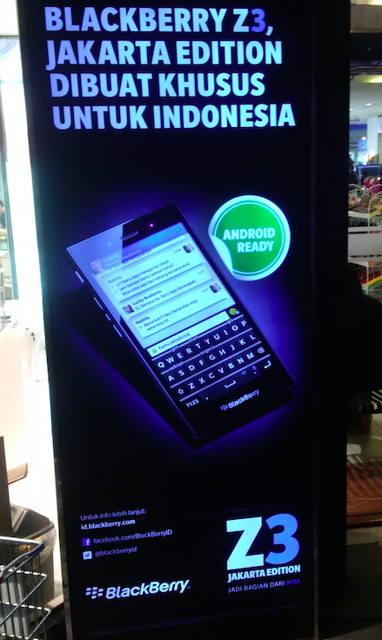 98% Aplikasi Android Bisa Dijalankan di Blackberry Z3 'Jakarta