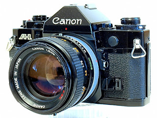 Canon A-1, Left front