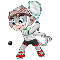 Logo dan Lambang Cabang Olahraga PON Jabar 2016 Squash