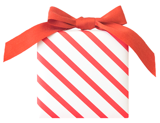 Candy Stripe Wrapping Paper from The Love. Luck. Kisses & Cake Shop