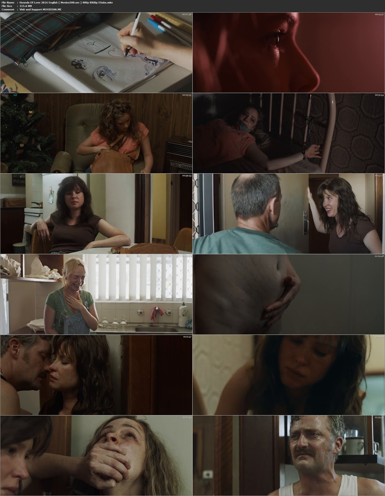 Hounds of Love 2016 Hollywood 300MB Movie BluRay 480p at movies500.site