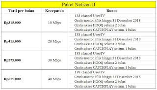 paket indihome netizen unlimited
