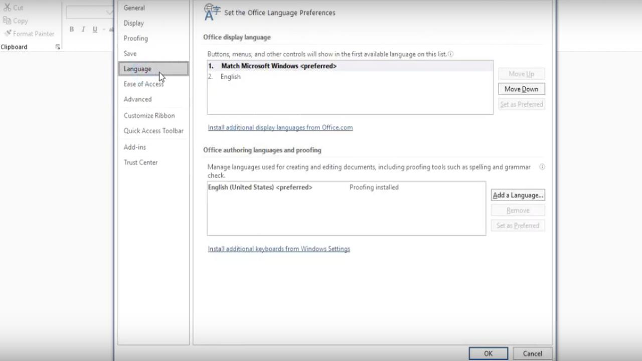 Cara Ganti Bahasa Microsoft Office ke Indonesia