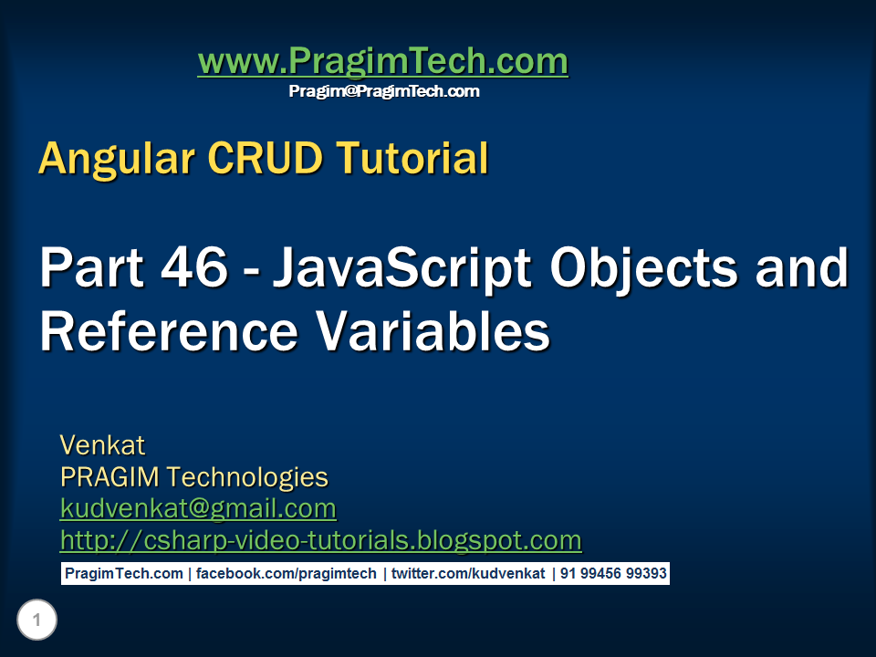 Sql server,  net and c# video tutorial: Javascript objects