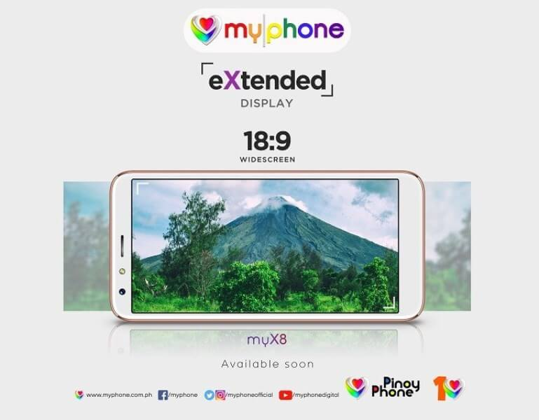 MyPhone to Launch myX8 with 18:9 Display