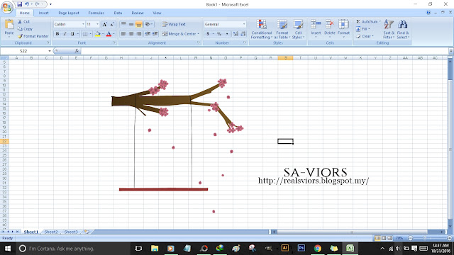 Art with Microsoft Excel; Basic Tree