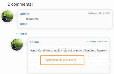 adding thread comment in blogger